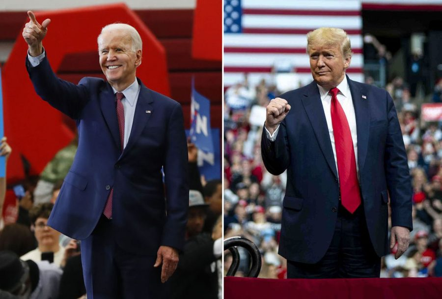 The+candidates+of+the+2020+Presidential+Election%2C+Joe+Biden+%26+Donald+Trump.+Meet+our+new+President+though%3A+Joe+Biden%21