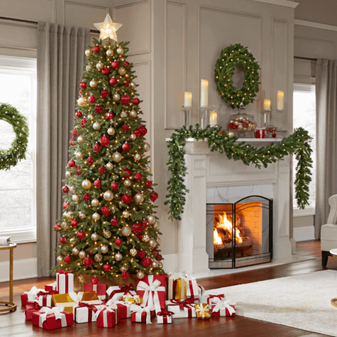 A beautifully decorated Christmas Tree