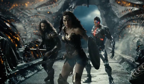 Aquaman, Wonder Woman, and Cyborg prepare for battle. Photo courtesy of NBC News.