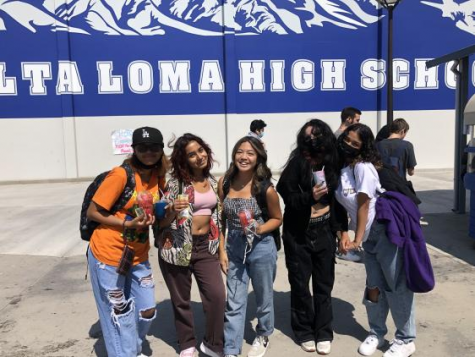 Group of students at ALHS.