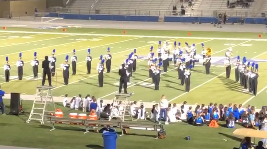 ALHS Marching Band Performing at the football game on September 3rd
