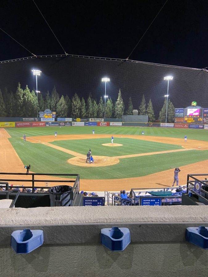 A game between the Rancho Cucamonga Quakes and Visalia Rawhide on September 14th, 2021